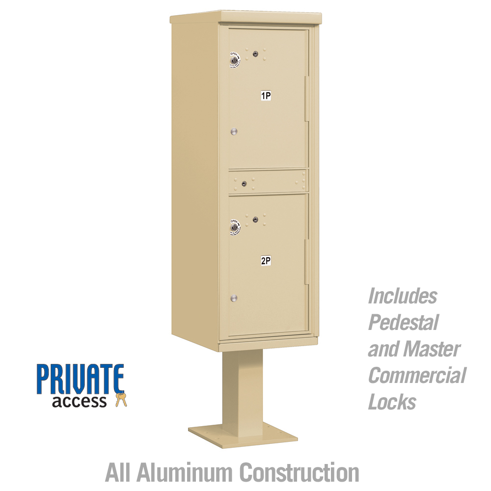 Pedestal Mounted Outdoor Double Parcel Locker Cluster Box Unit From Locking Mailboxes