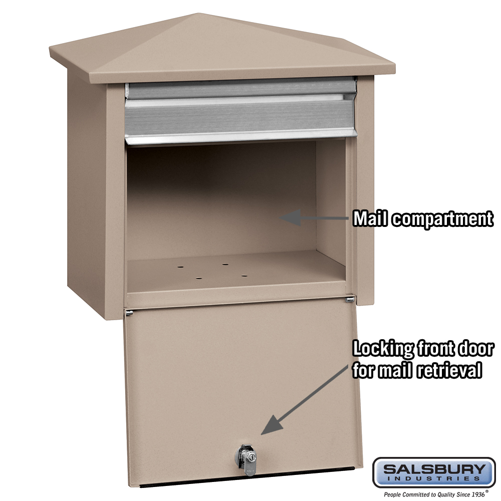 Mail House For Wall Mount Mailboxes From Locking Mailboxes