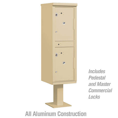 Pedestal Mounted Outdoor Double Parcel Locker Cluster Box