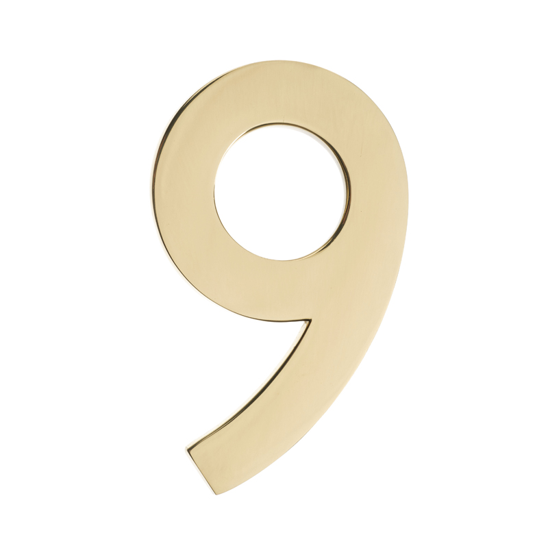 5 Inch Brass House Address Number